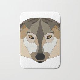 Low Poly Wolf - Animals Bath Mat