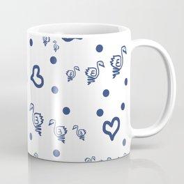 duck family blue pattern Coffee Mug