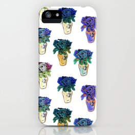 Beaded Floral Art Print by Annalee Beer iPhone Case