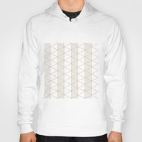 grid Hoodies featuring Grid Beige by BlueLela