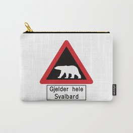 Beware of Polar Bears Sign - Svalbard Norway - Gjelder hele Svalbard Carry-All Pouch