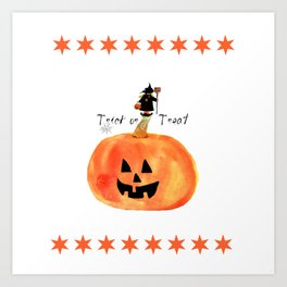 Halloween witch, trick or treat Art Print