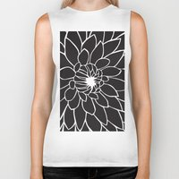 dahlia Biker Tanks featuring Dahlia by Gemma Bullen Design