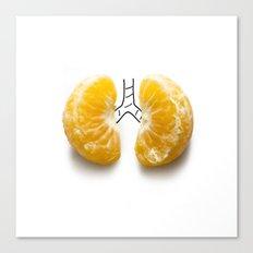 Mandarine lungs Canvas Print