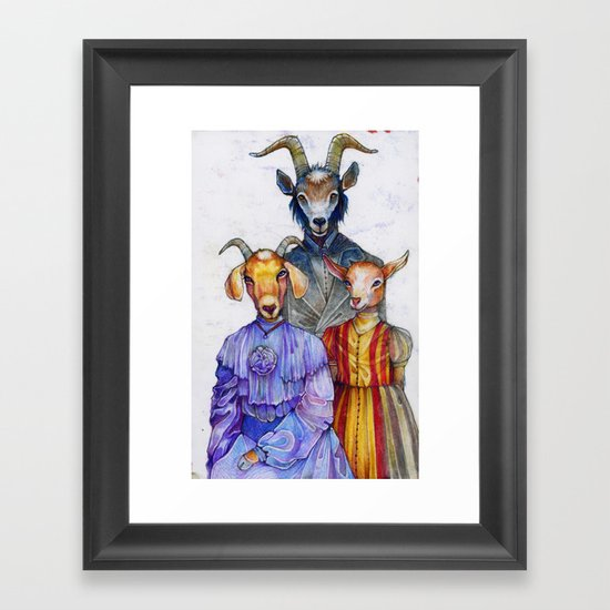 the van Goatsians Framed Art Print