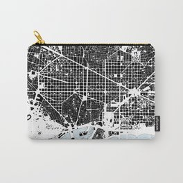 Barcelona Graphic Map Carry-All Pouch