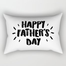Happy Father's Day - Fun Bold Text Rectangular Pillow