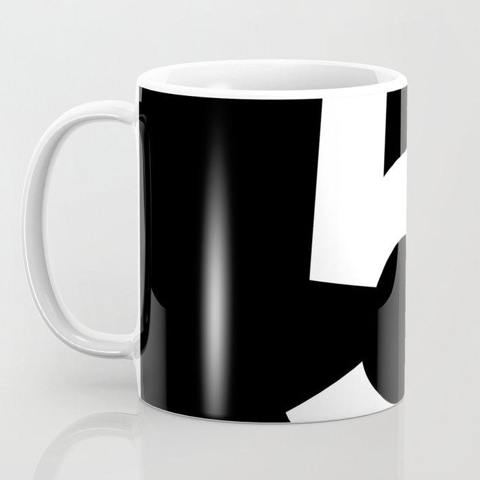 Number 5 (White & Black) Coffee Mug