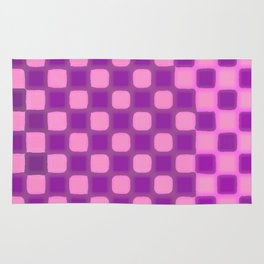 Checker Game: Violet and Pink Rug
