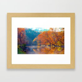 Falling into fall Framed Art Print