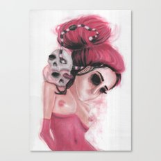 Red Coloured Dreams Canvas Print
