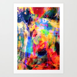 Color Loving Schitzo  Art Print