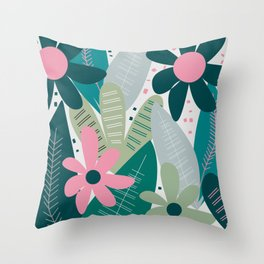 Kind of tropical cuteness Throw Pillow