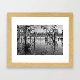 Adams Mill Pond 53 B&W Framed Art Print