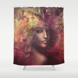 fantasy woman composite Shower Curtain