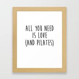 Nice Pilate Gift Yoga Framed Art Print
