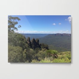 Blue Mountains and Three Sisters Metal Print