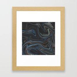 Liquid Stones Framed Art Print