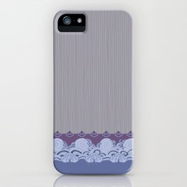 Layered Scallops and Waves iPhone Case