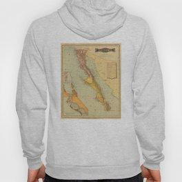 Vintage Map of Baja California (1886) Hoody