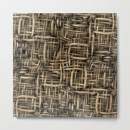 3d background, texture of wood, seamless Metal Print