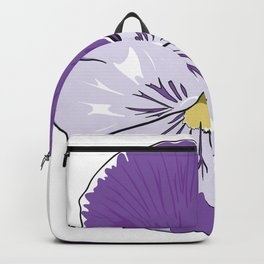 Purple Pansy Flower Backpack