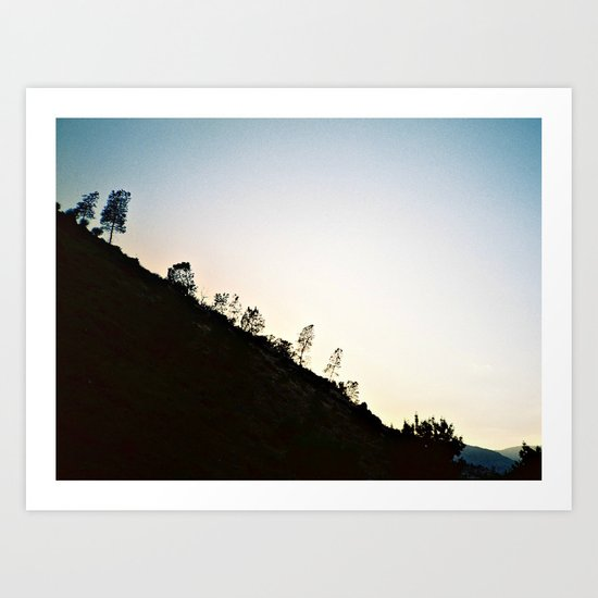 Mountain Dusk Art Print