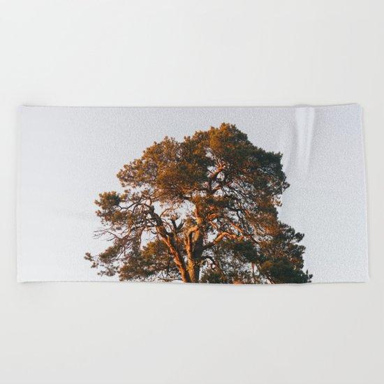 Half Tree Beach Towel