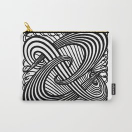Art Nouveau Swirls in Black and White Carry-All Pouch