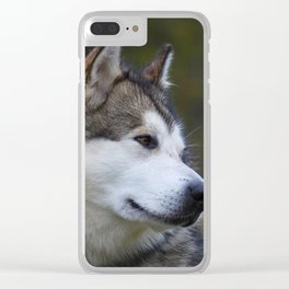 Wolf Husky Clear iPhone Case