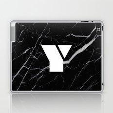Black Marble - Alphabet Y Laptop & iPad Skin