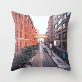The Highline street Throw Pillow