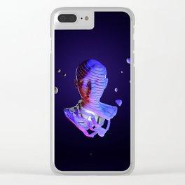 Cosmic portrait sculpt Clear iPhone Case