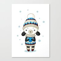 sheep Canvas Prints featuring Sheep by Freeminds