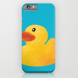 Rubber Duck polygon art iPhone Case