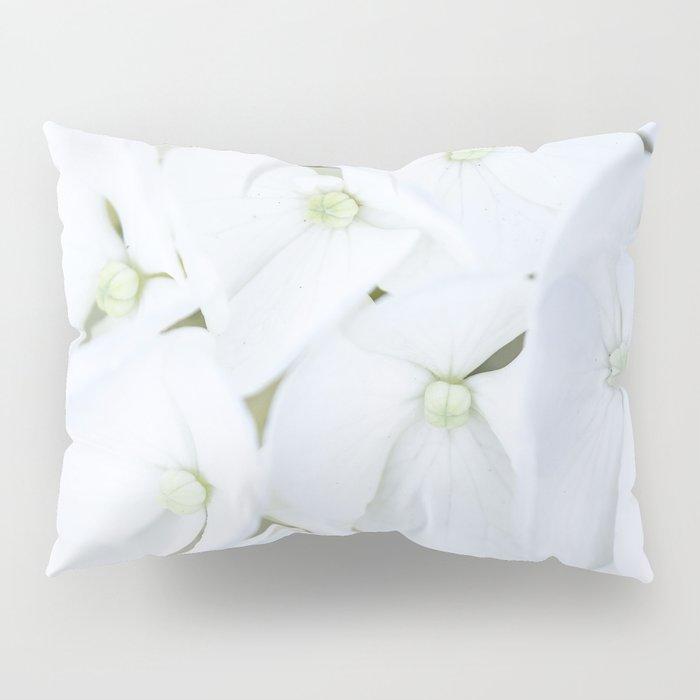 White hortensia flowers Pillow Sham