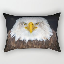 Fascinating Magnificent American Bald Head Eagle Close Up Ultra HD Rectangular Pillow
