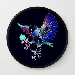 Flying with roses inverse Wall Clock