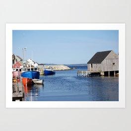 Lobster Boats Art Print