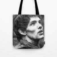 merlin Tote Bags featuring Merlin by Lisa Buchfink