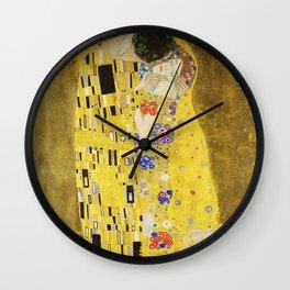 The Kiss - Gustav Klimt, 1907 Wall Clock