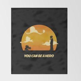 My Hero Sunset Throw Blanket