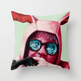 I'll shoot your eyes out Throw Pillow