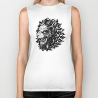lion Biker Tanks featuring Lion by BIOWORKZ