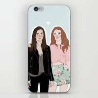lydia martin iPhone & iPod Skins featuring Cora Hale/Lydia Martin by vulcains