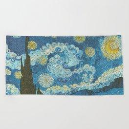Swirly Night Beach Towel