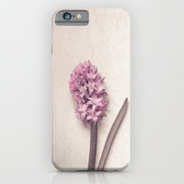 Pink Hyacinth iPhone Case