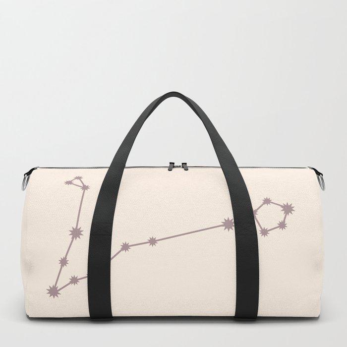 Pisces Zodiac Constellation Neutral Rose Duffle Bag