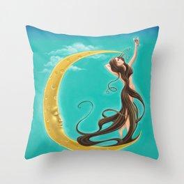 Moon Goddess Throw Pillow