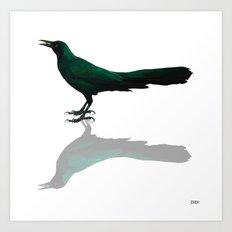 The Colors Of A Blackbird Art Print
